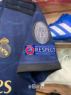 Adidas REAL MADRID 19/20 AWAY JERSEY Champions League Patches Size Medium