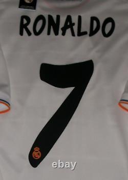 Adidas Real Madrid 13-14 Champions Final M Ronaldo Original Soccer Jersey Shirt