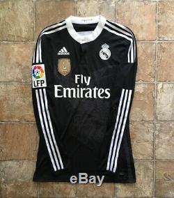 Adidas Real Madrid 14/15 Third Dragon Adizero Jersey Match Issued Long Sleeve