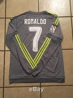 Adidas Real Madrid 15/16 Away Jersey Player Issue Adizero Size M