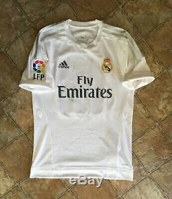 Adidas Real Madrid 15/16 Home Player Match Issue Jersey Adizero Size 8
