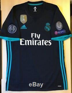Adidas Real Madrid 17/18 Away Jersey Match Player Issue Adizero Size 8