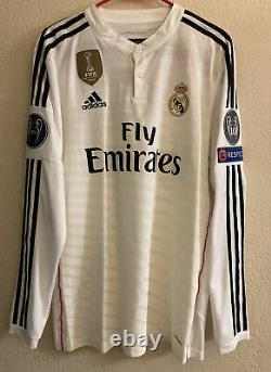 Adidas Real Madrid 2014/2015 Home Player Issue Soccer Jersey