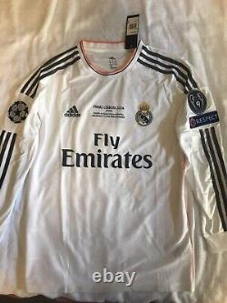 Adidas Real Madrid 2014 UCL FINAL CRISTIANO RONALDO HOME JERSEY Size Medium