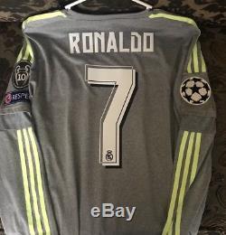 Adidas Real Madrid Away Jersey 2016 Trikot Maillot Large Ronaldo Champions UCL