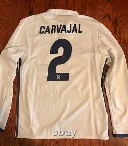 Adidas Real Madrid Carvajal #2 2016 UEFA Super Cup long sleeve jersey shirt