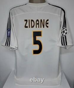 Adidas Real Madrid Champions 2004 Zidane L Original Football Jersey Shirt