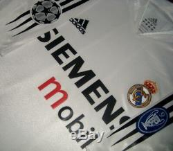 Adidas Real Madrid Champions 2005 Zidane Match Player Original Jersey Shirt