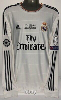 Adidas Real Madrid Champions Final 2014 Ls Long Ronaldo M Original Jersey Shirt