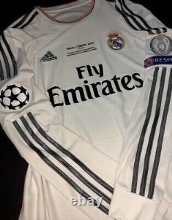 Adidas Real Madrid Champions Final 2014 Ls Long Ronaldo S Original Jersey Shirt