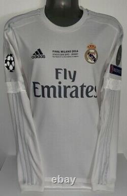 Adidas Real Madrid Champions Final 2016 Ls Long Ronaldo L Original Jersey Shirt