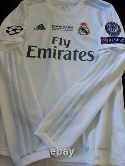 Adidas Real Madrid Champions Final 2016 Ls Long Ronaldo M Original Jersey Shirt