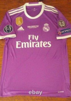 Adidas Real Madrid Champions Final 2017 Ronaldo M Original Soccer Jersey Shirt