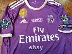 Adidas Real Madrid Champions Final Cardiff 2017 Ronaldo Original Jersey Shirt