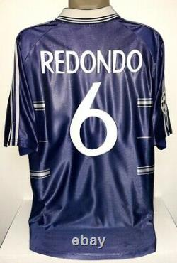 Adidas Real Madrid Champions League 1999 L Redondo Original Jersey Shirt