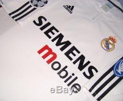 Adidas Real Madrid Champions League 2003 Zidane Original Soccer Jersey Shirt