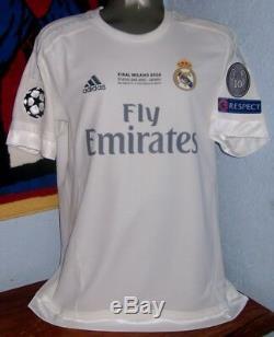 Adidas Real Madrid Champions League 2016 Winner Ronaldo L Original Jersey Shirt