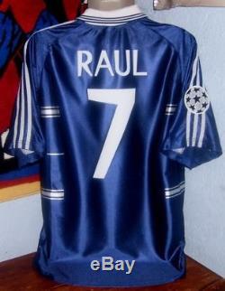 Adidas Real Madrid Champions League Away 1999 M Raul Original Jersey Shirt
