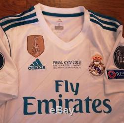 Adidas Real Madrid Champions League Final 2018 XL Ronaldo Original Jersey Shirt