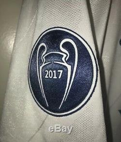 Adidas Real Madrid Champions League Jersey Trikot Maillot L Bale Long Sleeve Fin