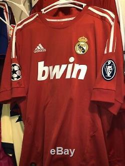 Adidas Real Madrid Champions League Jersey Trikot Maillot L Ronaldo Rare Red