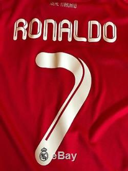 Adidas Real Madrid Cristiano Ronaldo CR7 CL Third Jersey M Long Sleeve Red Top