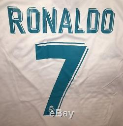 Adidas Real Madrid Cristiano Ronaldo Jersey 2018 Champions League Final Size L