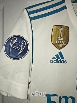Adidas Real Madrid FC 2018 Authentic Adizero Champions League Home Jersey Medium