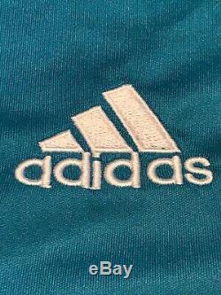 Adidas Real Madrid FC Soccer Long Sleeve Third Jersey 2017-18 Blue Verane #5 L