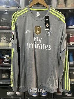 Adidas Real Madrid Gareth Bale Away Jersey / Shirt 2015-16 sz L Long Sleeve BNWT