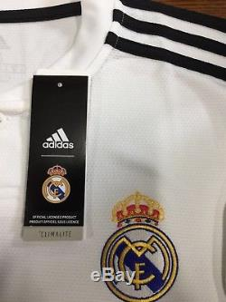 Adidas Real Madrid Home Soccer Jersey 2018-2019 Champions Patches Size Large