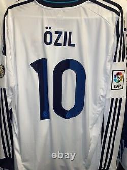 Adidas Real Madrid Jersey Trikot Maillot Rare UCL Ozil CR7 Large Long Sleeve