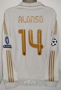 Adidas Real Madrid Long Sleeve 2011 Alonso Champions XL Original Jersey Shirt