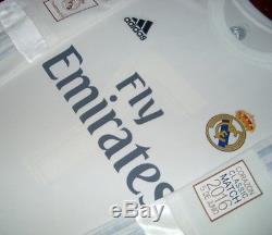 Adidas Real Madrid Ls Long Charity Heart Match 2016 Raul Original Jersey Shirt