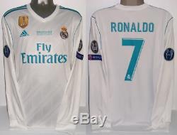 Adidas Real Madrid Ls Long Ronaldo Champions Final 2018 L Original Jersey Shirt