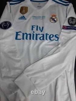Adidas Real Madrid Ls Long Sleeve Champions 2018 Ronaldo L Original Jersey Shirt