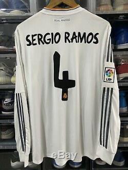Adidas Real Madrid Sergio Ramos Home Jersey Shirt 2013-14 BNWT sz L Long Sleeve