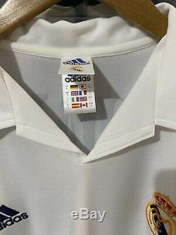 Adidas Real Madrid Zidane Centenary Home Jersey / Shirt 2001-02 sz L