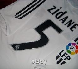 Adidas Real Madrid Zinedine Zidane Last Game Original Jersey Shirt