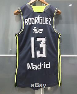 Adidas Sergio Rodriguez Real Madrid Basketball Jersey Fiba Eurobasket Spain Cska