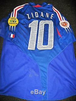 Adidas Zidane France 2004 Euro Player Issue Jersey Shirt Maillot Real Madrid