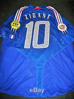 Adidas Zidane France 2004 Euro Player Issue Jersey Shirt Maillot Real Madrid XL