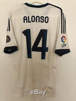 Alonso2013/01/12 Real Madrid Vs Osasuna La Liga Match Worn Dirty Shirt Jersey