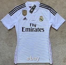 Authentic Adidas 2014/15 Real Madrid Roberto Carlos Corazon Match Jersey M shirt