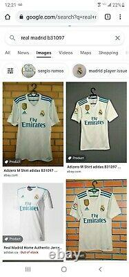 Authentic Adidas Real Madrid Bale 2018 Jersey Long Sleeves Size L player Issued