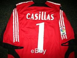 Authentic Casillas Real Madrid Jersey 2005 2006 Porto Spain Shirt Camiseta L