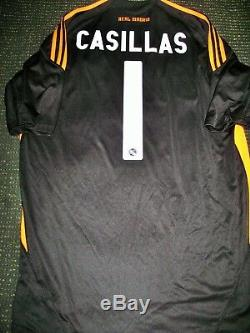 Authentic Casillas Real Madrid Jersey 2009 2010 Porto Shirt Camiseta Spain L