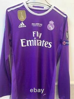 Authentic Cristiano Ronaldo 2017 UCL Final Real Madrid jersey size L