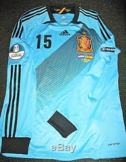 wholesale dealer 51a28 9f2a3 Authentic Ramos Spain 2012 EURO Match Issue Jersey Shirt ...