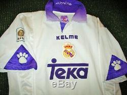 Authentic Raul Real Madrid Kelme 1997 1998 Jersey Spain Camiseta Trikot Shirt L